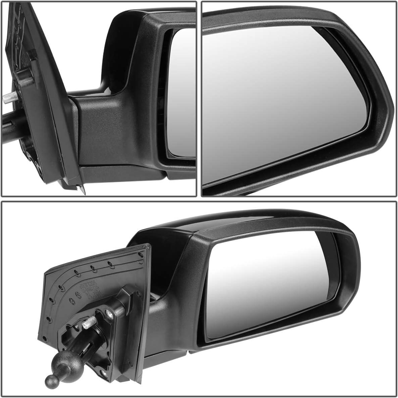 DNA Motoring OEM-MR-KI1321138 Factory Style Manual Right Side View Door Mirror