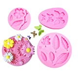 4 Pcs Flower Candy Molds Chocolate Molds Polymer