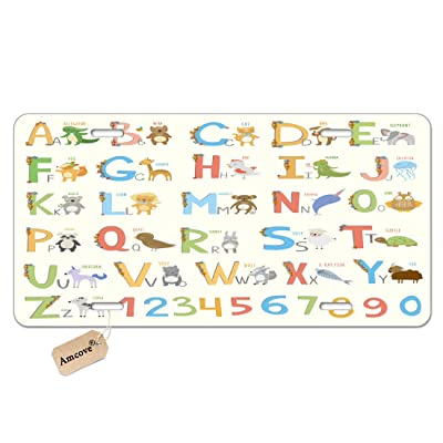 Amcove Alphabet License Plate ABC Learning Tool Large A to Z Novelty Metal Vanity License Tag Plate,6 X 12 Inch: Automotive