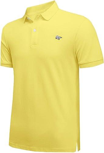 Hombre Manga Corta Polos 100% Algodón Casual Camiseta Golf Tenis Camisas Bordado de Oso/Imprimir Logo/Color sólido Disponible: Amazon.es: Ropa y accesorios