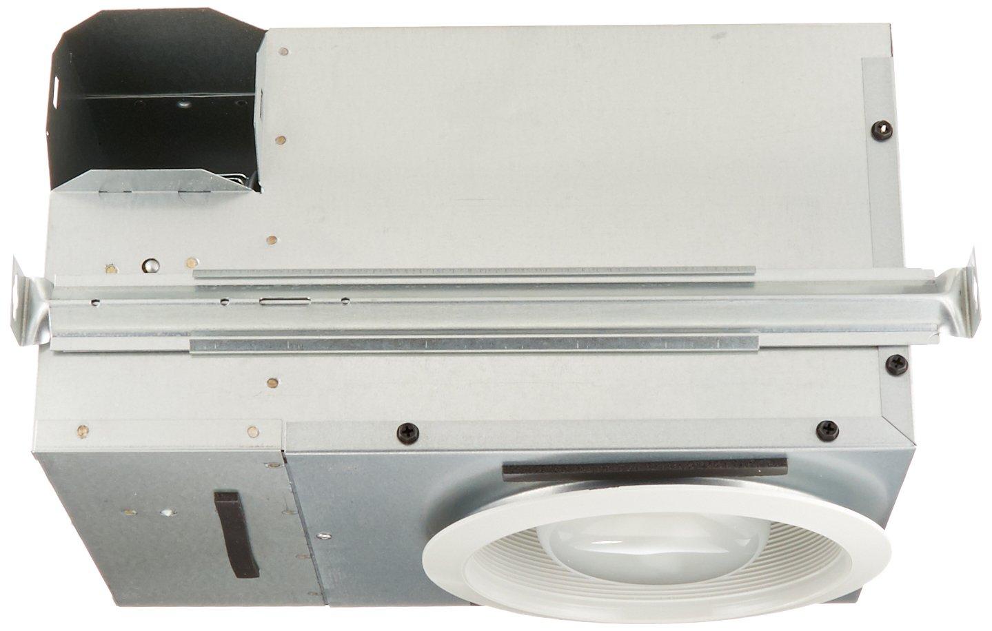 Broan 744FL Recessed Fluorescent Bulb Fan and Light, 70 CFM 14 Watt 4-Pin R30