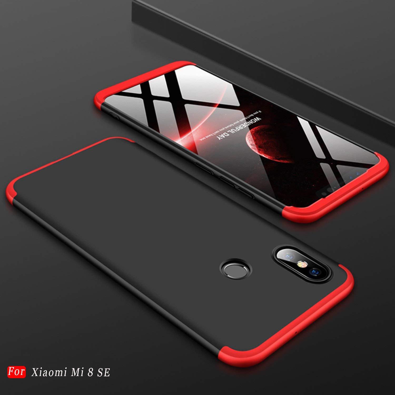 Mylboo Xiaomi Mi 8 SE Hü lle, [3 in 1] 360 Grad Ganzkö rperschutz,[Anti-Scratch] [Stoß fest] Matte Ultra Slim PC Hard Case fü r Xiaomi Mi 8 SE (Rot) OEM ZJ0815001
