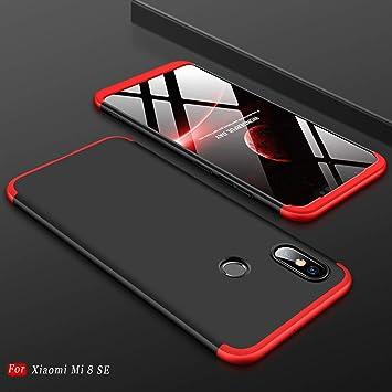 MYLBOO Funda Xiaomi Mi 8 SE,[3 en 1] 360 Grados de protección Total del Cuerpo,[Anti-Scratch][A Prueba de Golpes] Mate Estuche rígido de PC ...