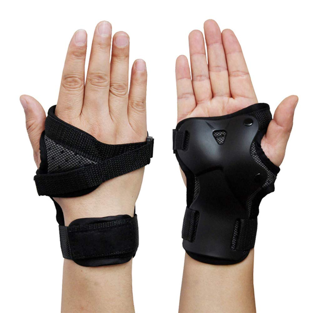 Idealcoldbrew Black Wristguard Protective Gear, Unisex Wrist Brace, Medium Size Fit Right/Left Hand, Fabric Sport Protection for Skating, Roller Skating, Snowboarding by Idealcoldbrew