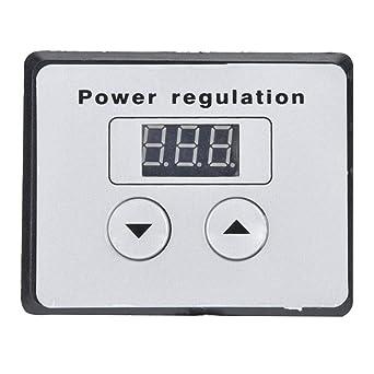 AC 220V 10000W SCR Voltage Regulator Speed Control Dimmer Thermostat LED Display