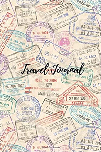 travel journal 6 x 9 lined journal travel notebook blank book