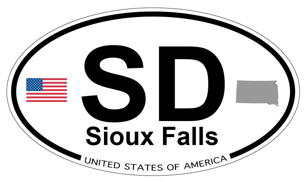 Amazon Sioux Falls South Dakota Oval Magnet Automotive