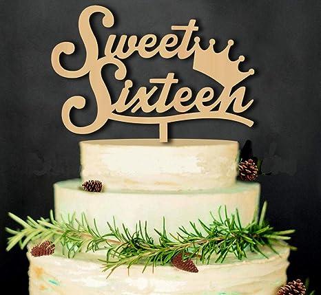 Amazon.com: Decoración para tartas de cumpleaños, hecho a ...