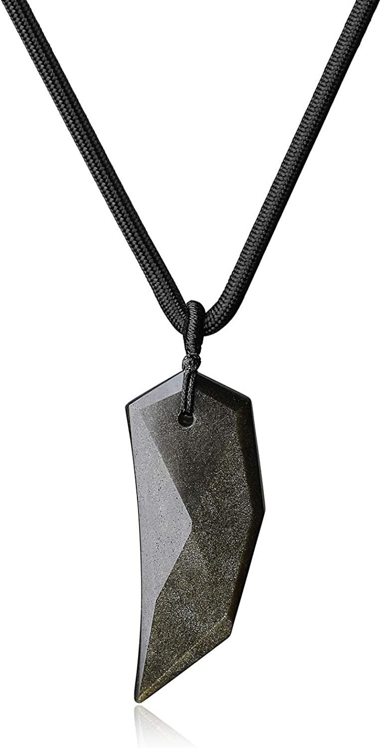 Elegant-Store-A One Piece Super Plated Gold Stainless Steel Wolf Tooth Pendant for Man