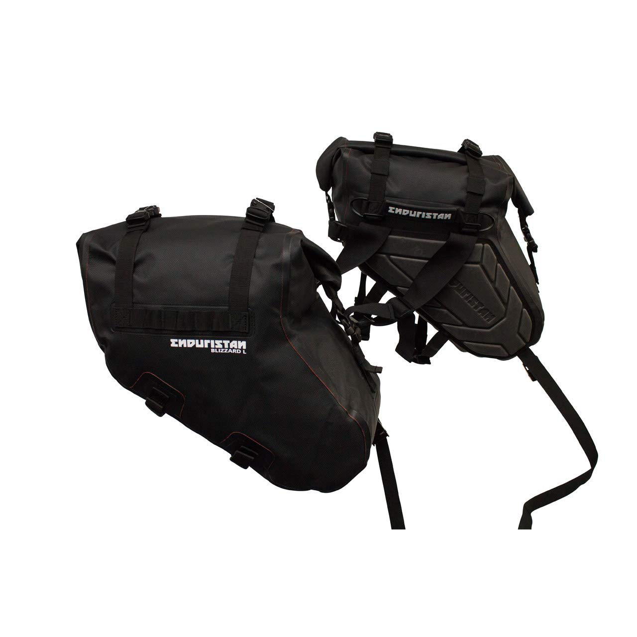 Volumen 2 x 8,5 Liter Size M ENDURISTAN Blizzard Saddle Bags Medium//Satteltaschen//Gep/äcksystem//Softbags 100/% Wasserdicht