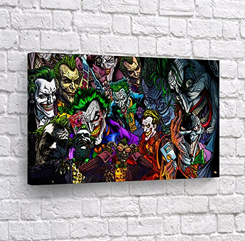 (Batman The Killing Joke - Different kind of Joker in One Comics Old School CANVAS PRINT Wall Art Decorative Home Decor Poster Artwork Framed Stretched- Ready to Hang -%100 Handmade)