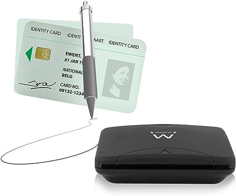 Ewent Ew1052 Smart Card Reader And Writer Usb External Computers Accessories