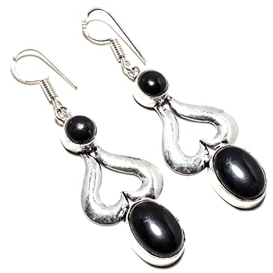 a6d897d51e5 Buy Beautiful Black Onyx Gemstone Earring Handmade 925 Sterling Silver  Plated Jewelry -Dangle and Drop Earring -(SF-2469) Online at Low Prices in  India ...