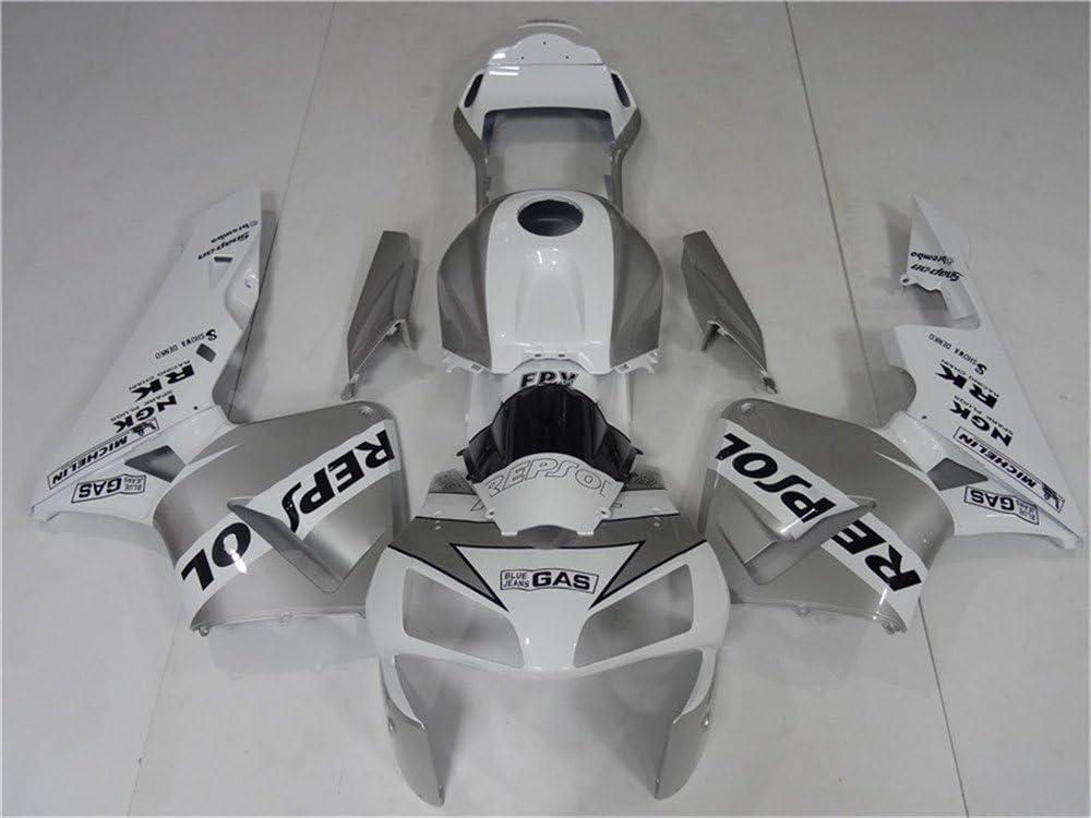 2003 2004 Fit for HONDA CBR600RR Injection mold Fairings Kit Body Kit Bodywork Plastic Silver