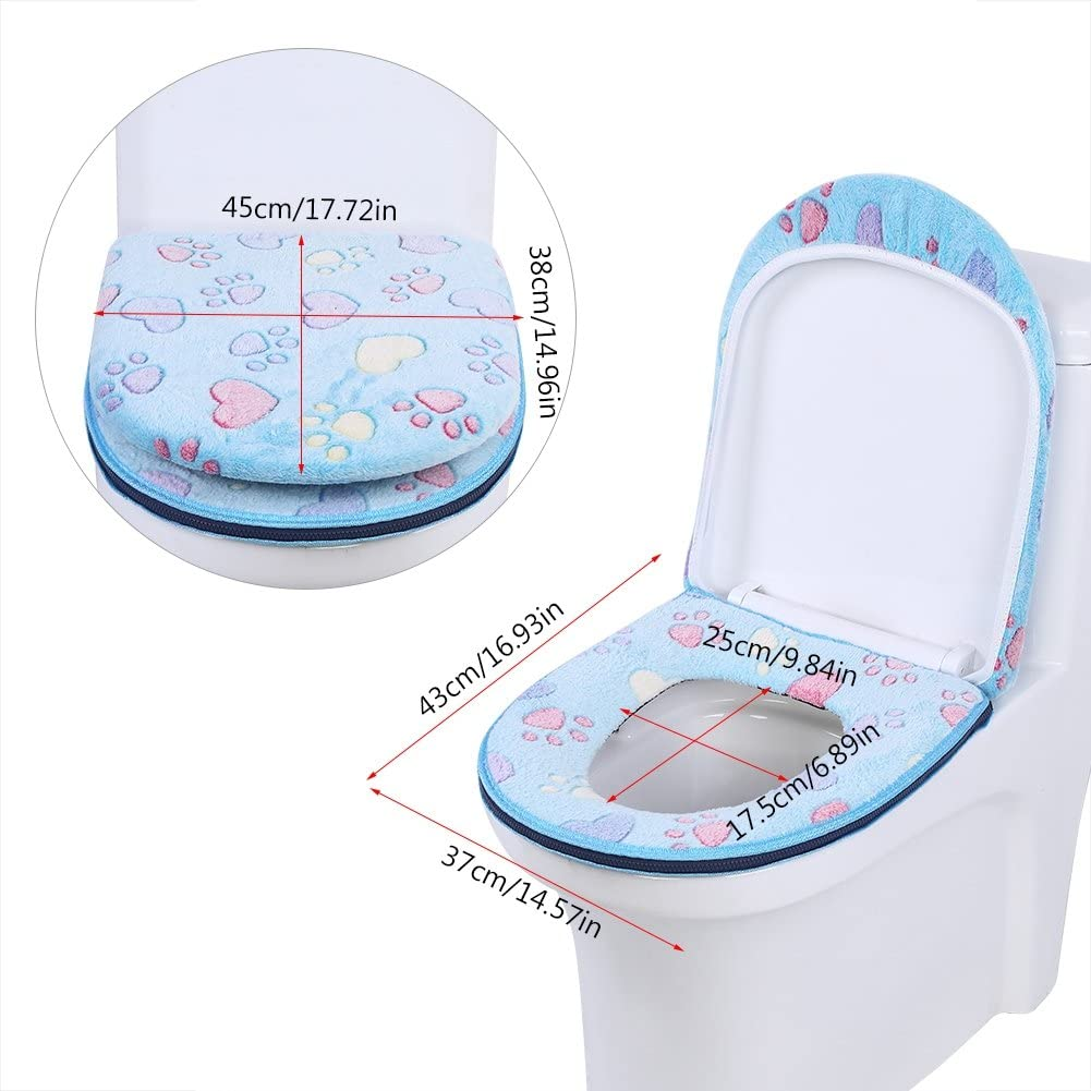 Pink 2 Unids Cubierta del Asiento del Inodoro Lavable Coj/ín del Asiento del Inodoro Almohadillas para el asiento del inodoro Decoraci/ón del ba/ño