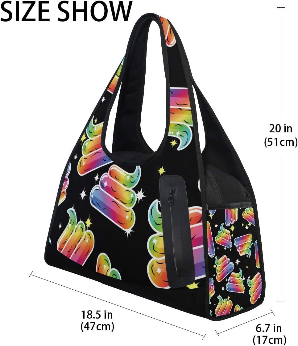 AHOMY Canvas Sports Gym Bag Cartoon Animal Travel Shoulder Bag