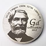Tribute to Discoverer of Gadolinium 1.5 inch 38.1mm diameter Pure Mn Metal Coin