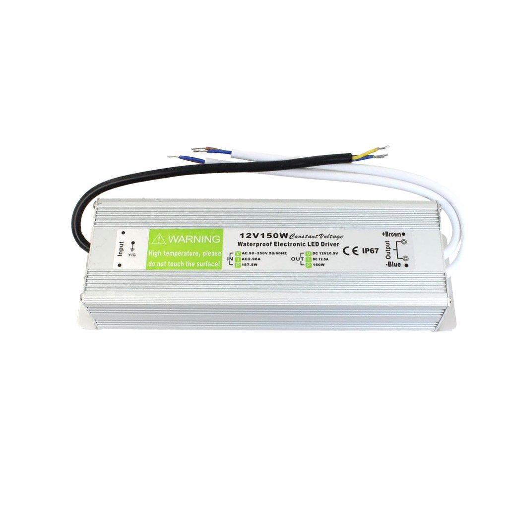 Sharplace 10W-150W Trasformatore di Potenza Driver per LED Strip Luce AC 110-220V a 12V DC - 150w