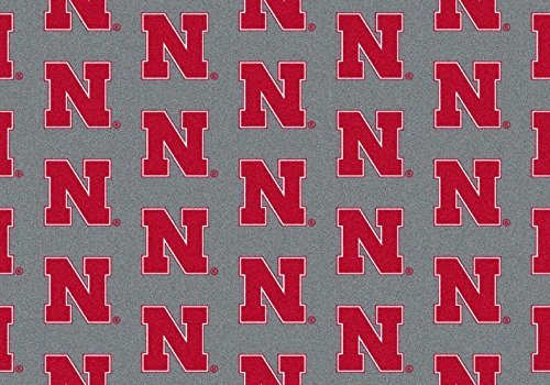 American Floor Mats Nebraska Cornhuskers NCAA College Repeating Team Area Rug 7'8