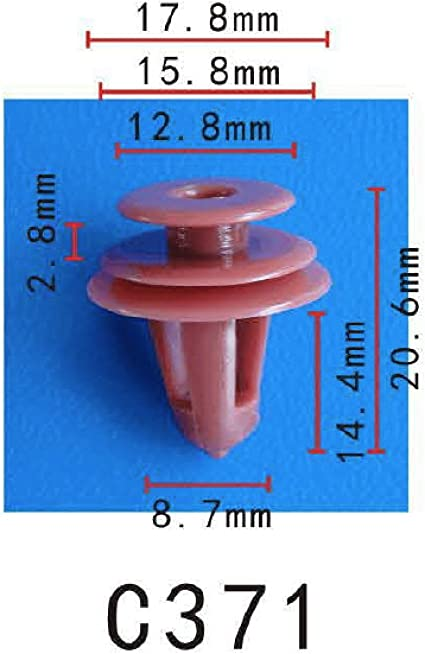 Carte SUBARU côté du panneau jupe doublure trim clips