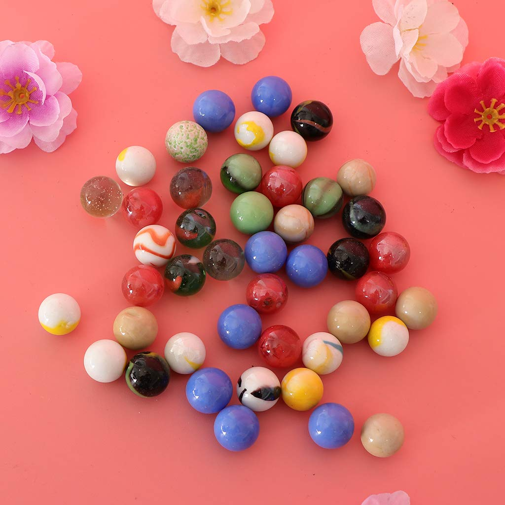 Vase Filler Beads DYNWAVE Multicolor Round Glass Marbles 16mm in Diameter 45PCS Per Package