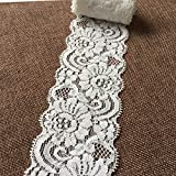 Olive Lace 2.3 Inches Wide Stretchy Lace Ribbon