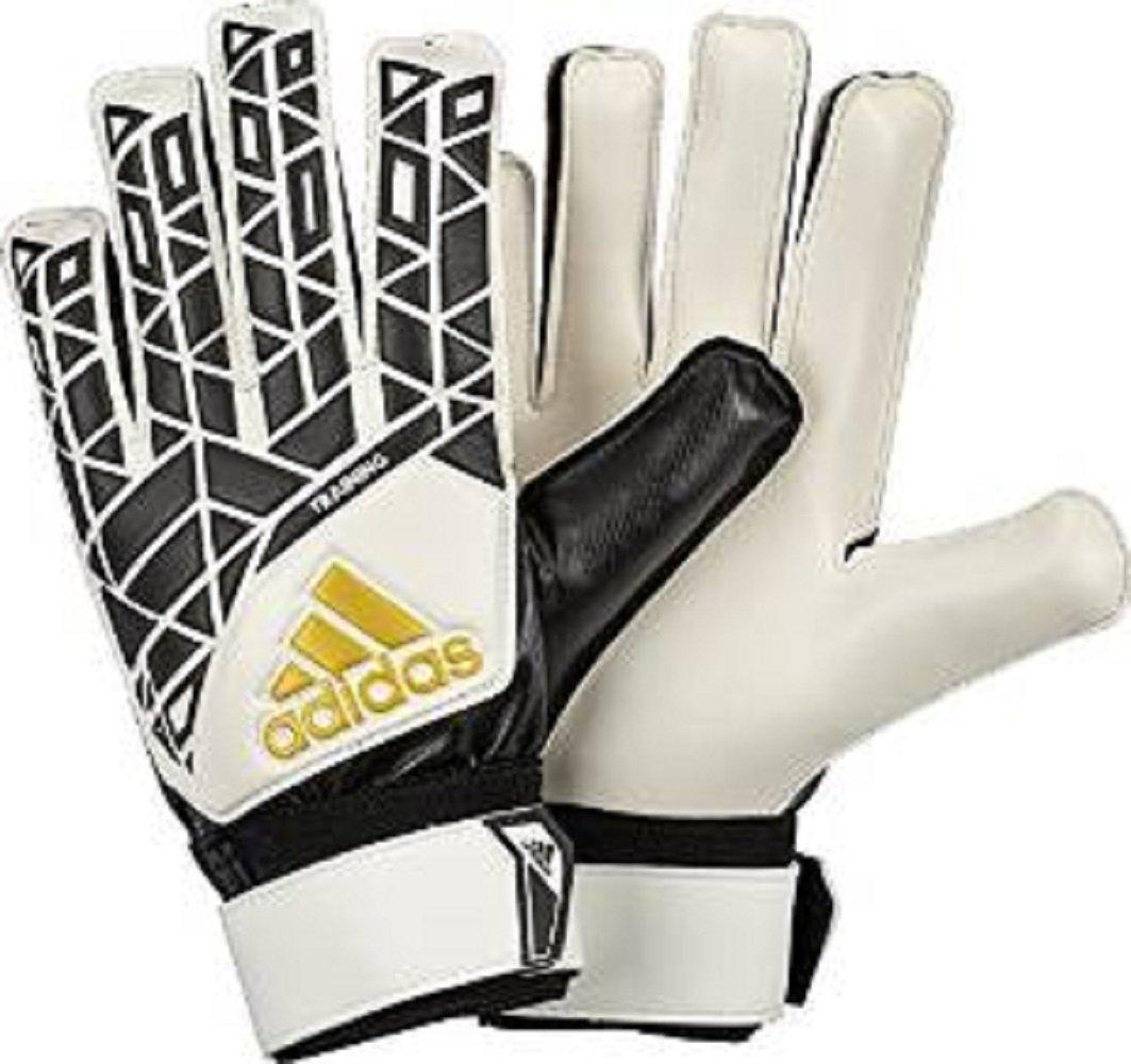 Adidas Performance Aceトレーニングゴールキーパーグローブ、ホワイト/ブラック/ Pantoneゴールド( 4.5 ) B01KQVP7KK