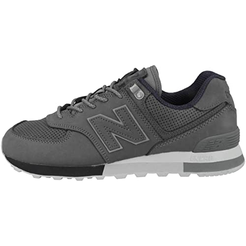310c12a713 New Balance Uomo Suede ML574ENA Grigio Scuro 7,5 (ITA 40,5): Amazon ...