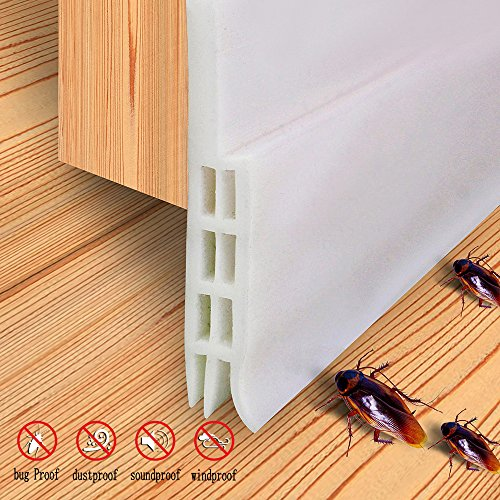Under Door Sweep Door Weather Stripping Draft Stopper Door Bottom Seal Strip Sound Insulation Bug Proof,2