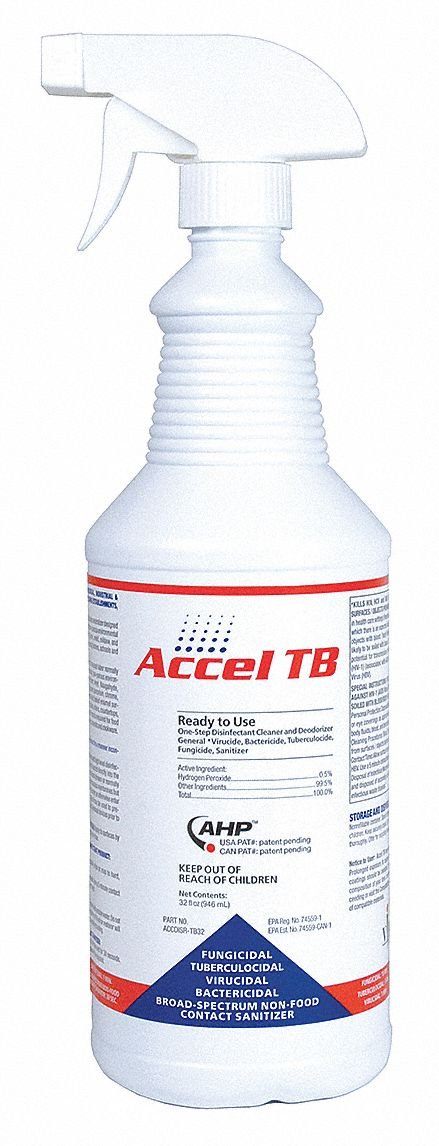 Cleaner and Disinfectant, Bottle, PK12