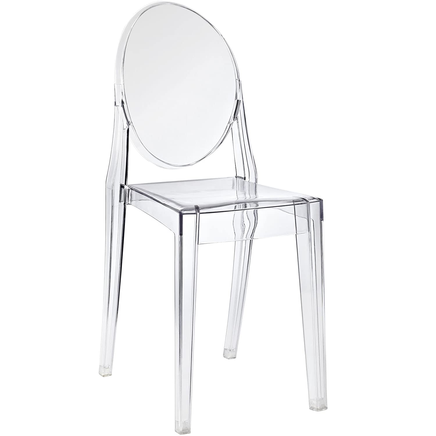 Amazon Modway Casper Dining Side Chair Clear Chairs