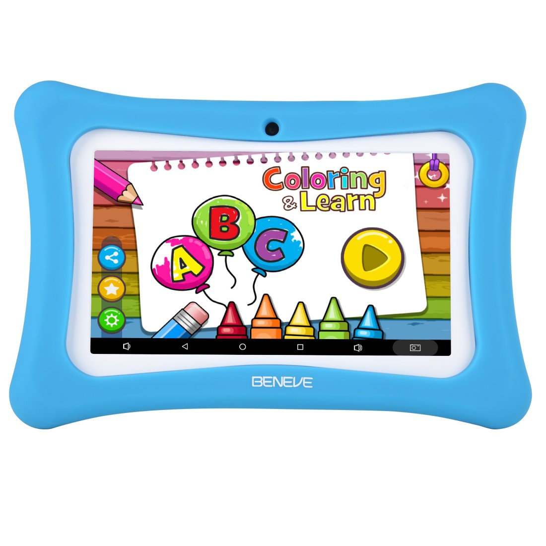 Kids Tablet Android 7.1, 7 Inch, HD Display, Quad Core, Children Tablet, 1GB RAM + 8GB ROM, with WIFI, Dual Camera, Bluetooth, Educational, Multi Touch Screen Kid Model, Parental Control (M blue 03) …