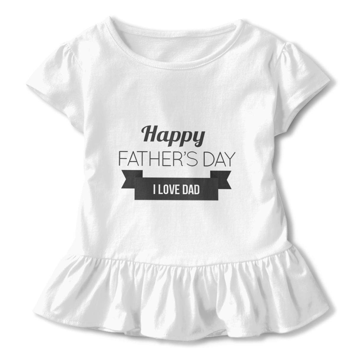 Happy Fathers Day I Love Dad White 2-6 T Toddler Baby Girls 100/% Cotton Short Sleeve T Shirt Top Blouse Tee Clothes