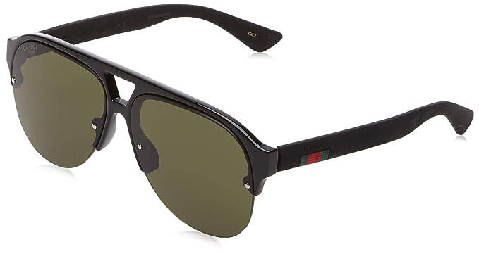 Gucci GG0170S 001 Gafas de sol, Negro (1/Green), 59 para ...