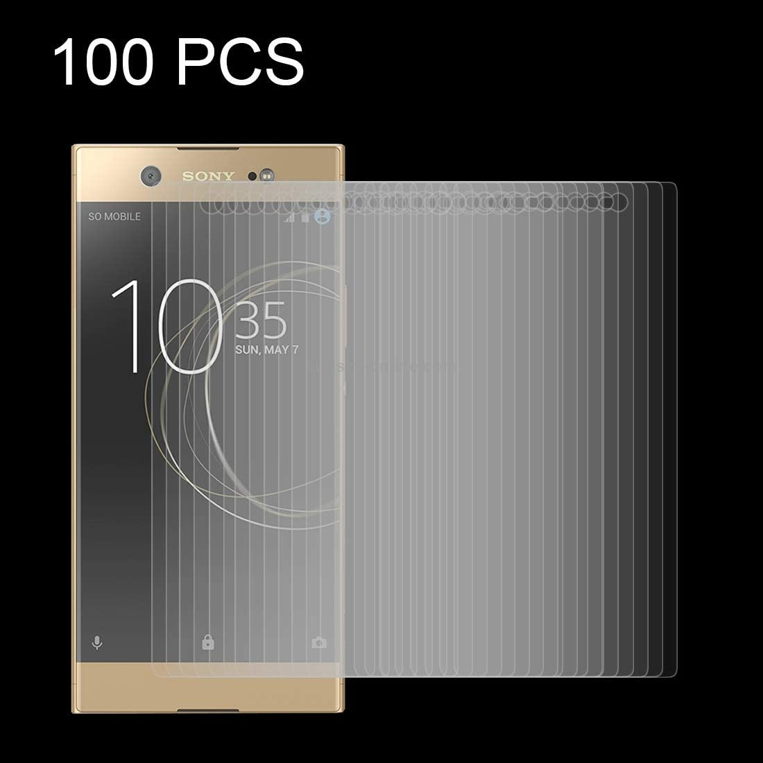 Wangl Mobile Phone Tempered Glass Film 100 PCS for Sony Xperia XA1 Ultra 0.26mm 9H Surface Hardness Explosion-Proof Tempered Glass Screen Film Tempered Glass Film