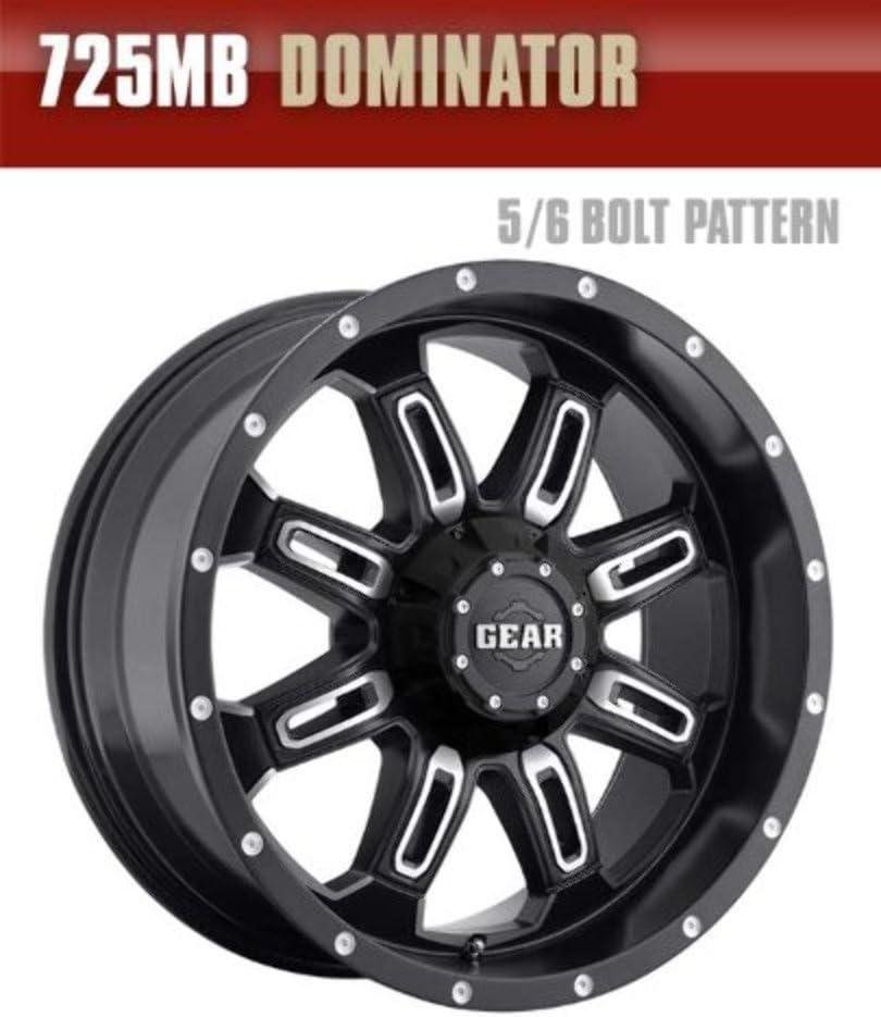 20x9 Black Wheel Gear Alloy Dominator 5x5.5 5x150