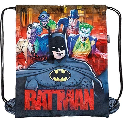 Saco Escolar, Batman, 8847, Preta