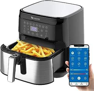 Proscenic T21 Smart Air Fryer, App & Alexa Control, XL 5. 8QT, 1700 Watt Electric Air Fryers Oven & Oilless Cooker, 8 Cooking Presets, LED Touchscreen, Nonstick Basket, Preheat, Black