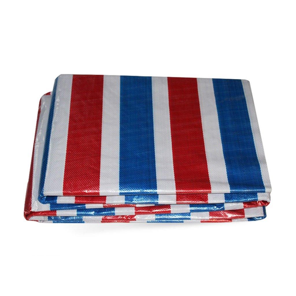 nuovo di marca WZLDP Striscia di colore Panno Impermeabile Panno Pioggia Panno Panno Panno di plastica Panno a Tre Colorei Tenda da Sole Panno di Protezione Solare Panno Anti-UV (Dimensioni   2M30M)  risparmia il 50% -75% di sconto