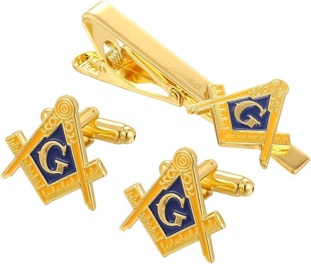 Gold Masonic Compasses Freemason Mason Cufflinks