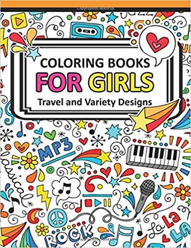 Coloring Book For Girls Doodle Cutes The Really Best Relaxing Colouring 2017 Cute Animal Dog Cat Elephant Rabbit Owls Bears