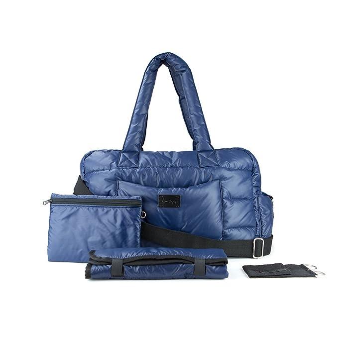 Stroller Strap Fleece-lined Cushioned Changing Pad BK718 Large Waterproof Multifunctional Newborn Toddler Organizer Travel Easy Grab Handles Padded Shoulder Straps 7AM Voyage Diaper Bag Backpack Laptop Sleeve
