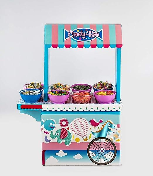 Candy bar Piruletas La Asturiana - Mesa Dulce con 6 Kilos de Diferentes Golosinas y 120