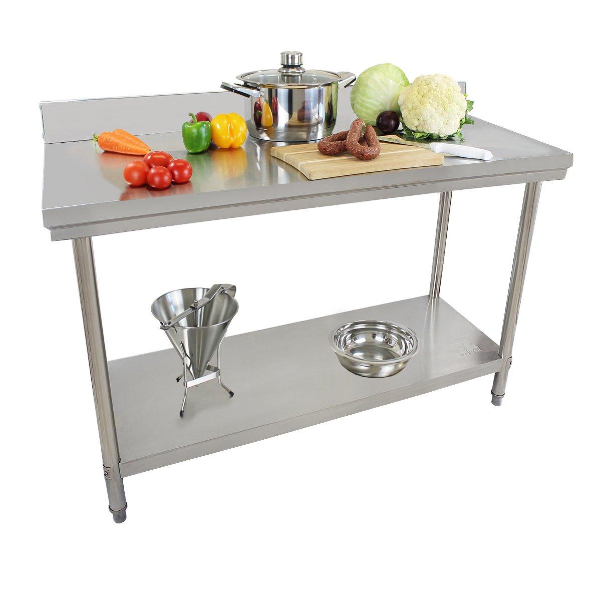 Beeketal Serie de ba acero inoxidable trabajo para mesa de ...
