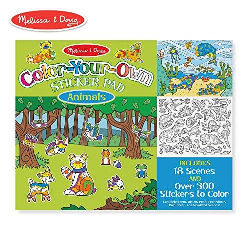 Melissa & Doug Color Your Own Sticker Pad Animals Sticker -