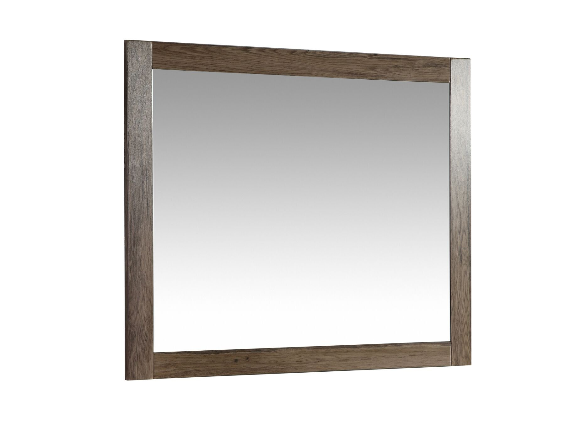 The Ivy Modern 30 Inch Wall Mounted Mirror by Flairwood Decor