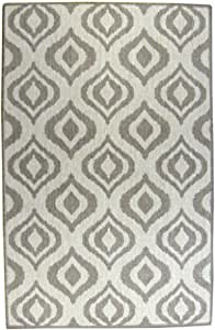 Lava Pillows Floor Decorative Ikat 32x52 Inch Outdoor Reversible Rug Brown/Natural