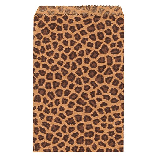 Paper Gift Bag Pattern (Ikee Design® 200 pcs Leopard Paper Gift Bags Shopping Sales Bags 6