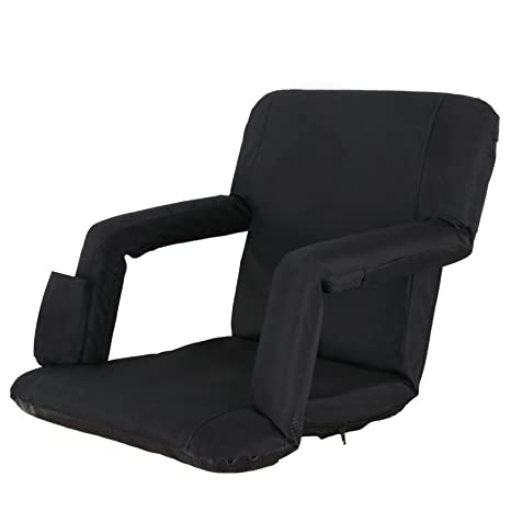 Smartxchoices Black Stadium Seat Bleacher Seat Chair 5-Reclining Positions Padded with Back Support  sc 1 st  Amazon.com & Amazon.com : Smartxchoices Black Stadium Seat Bleacher Seat Chair 5 ...
