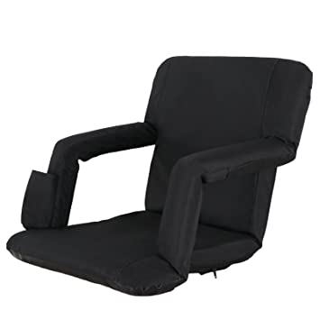 Stadium Chairs With Backs.Zeny Wide Stadium Seat Chair With Padded Cushion Backs And Armrest Support For Bleachers Or Benches 6 Reclining Custom Fit Sport Positions Easy
